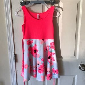 Girls Justice Sundress. Hot pink/floral. Size 10